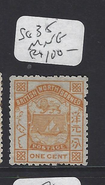 NORTH BORNEO  (P1209B)  1C ARMS LION SG 35  GOOD PERF   MNG