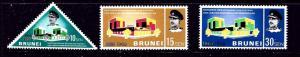 Brunei 144-46 MNH 1968 set with date overprinted