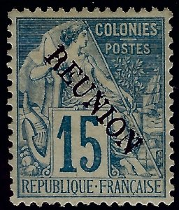 Reunion Sc #22 Mint VF SCV$52.50...Colonies are in demand!