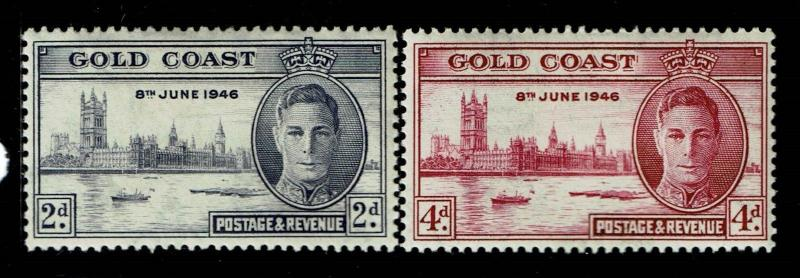 Gold Coast SG# 133 and 134, Mint Hinged, Hinge Remnant, 133 is 14 x 13.5 - S1014