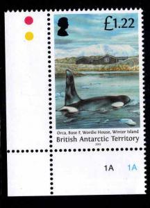 British Antarctic Territory Scott 500 MNH** Orca Whale