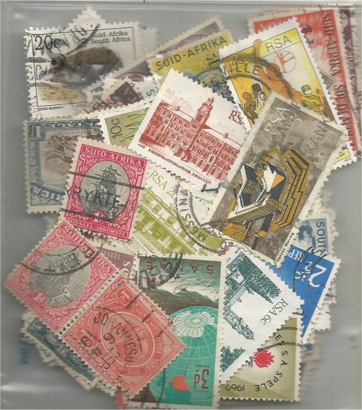 SOUTH AFRICA, used/mint mixed x100 (all different).2