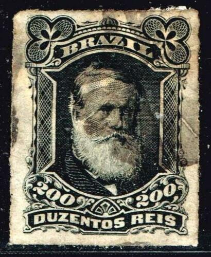 BRAZIL STAMP 1877 -1878 Emperor Dom Pedro II 200R USED STAMP