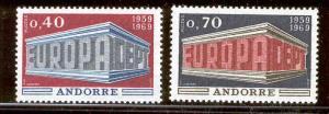 FR. ANDORRE 188-9 MNH EUROPA 1969