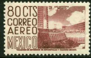 MEXICO C220Fo, 80¢ 1950 Definitive 2nd Ptg wmk 300 PERF 11 1/2X11 MINT NH VF