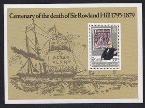 Falkland Islands # 294, Sir Rowland Hill, Souvenir Sheet, NH, 1/2 Cat.
