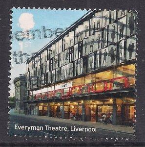 GB 2017 QE2 1st Landmarks Buildings Everyman Theatre used SG 3980  ( H1370 )