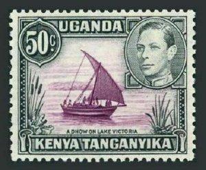 KUT 79 perf 13 x 12.5,MNH.Michel 65-IIC. George VI,1949.Dhow on Lake Victoria.