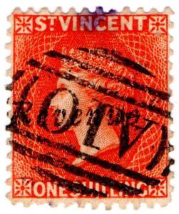 (I.B) St Vincent Revenue : Duty Stamp 1/- (postal)