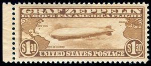MOMEN: US STAMPS #C14 MINT OGNH GRAF ZEPPELIN XF