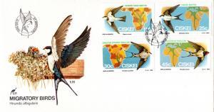 Ciskei - 1984 Migratory Birds FDC SG 60-63