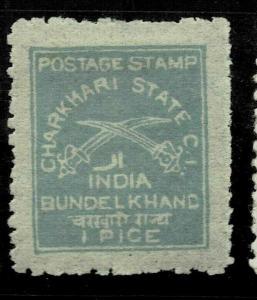 INDIA  - CHARKHARI - 1909- 1P  - SG NO 24 - LMM