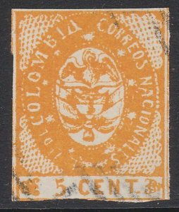 COLOMBIA  An old forgery of a classic stamp.................................D729