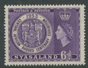 Nyasaland - Scott 95 - Rhodes Cent. -1953 - MLH - Single 6p Stamp