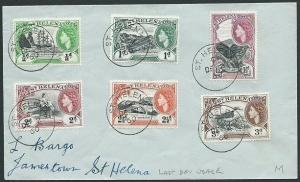 ST HELENA 1960 cover with QE to 3d - last day of used Dec 2................43880
