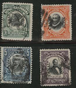 Canal Zone Scott 38-41 used 1912-1916 overprint set