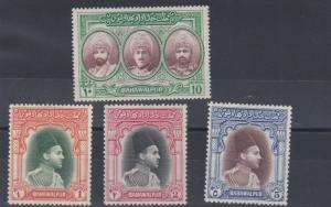 BAHAWALPUR  1948  S G  35 - 38   SET OF 4     MH