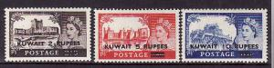 D1-Kuwait-Scott#117-19-unused hinged set-QEII-GB stamps surc