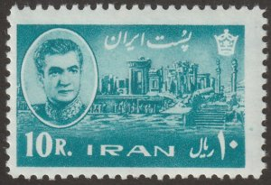 Persian/Iran stamp, Scott# 1340, MNH, 10R, greenish blue,1965 year, #K-10