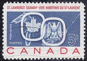 Canada # 387 used ~ 5c St. Lawrence Seaway