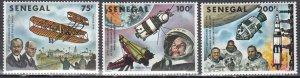 Senegal, Sc 491-493, MNH, 1978, Flight
