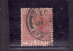 D3-Ceylon-Scott#63-used QV-2c brown-dated Ap 10 1903-