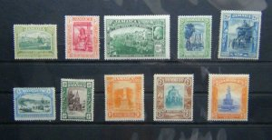 Jamaica 1919 - 1921 values to 3s MM