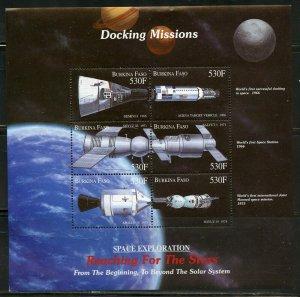 BURKINA FASO SPACE EXPLORATION DOCKING MISSIONS SHEET MINT NH