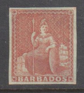 Barbados #4 XF MINT H - Imperforated -