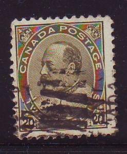 Canada Sc 94  1904 20c olive geeen Edward VII stamp used