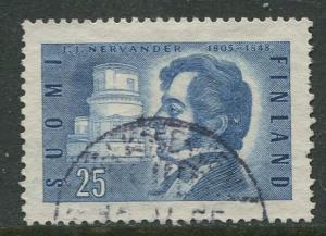Finland - Scott 325 - J.J.Nervander -1955- Used - Single 25m Stamp
