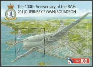 Guernsey 2018 MNH Royal Air Force RAF 201 Squadron 1v M/S Aviation Stamps