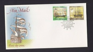 PNG473) Papua New Guinea 1988 Ships III Air Mail FDC