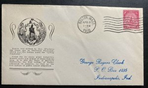 1930 Boston MA USA First day Cover FDC Massachusetts Bay Colony Sc#682
