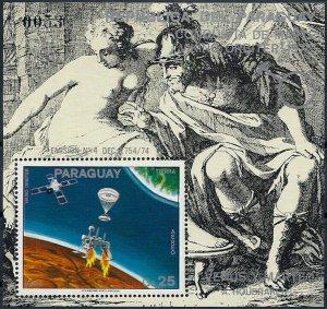 1976 Paraguay Mars, Paintings, Pioneer, Viking, Sheet Nr. 281, VFMNH, CAT 50$