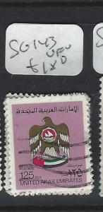 UNITED ARAB EMIRATES  (PP0104B)   SG 143     VFU
