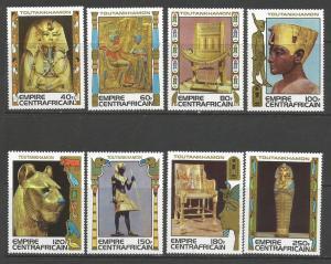 CENTRAL AFRICA 349-56 MNH Z055