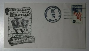 Northeastern Pennsylvania Philatelic Society Exhibition Scarnton PA 1964 Cachet