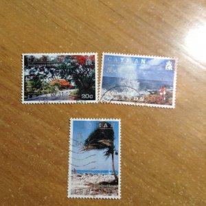 Cayman Islands  # 638-39/41  Used