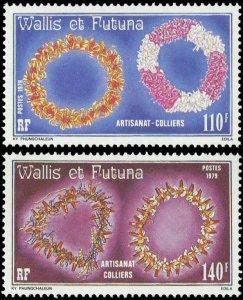 Wallis and Futuna 1979 #240-1 MNH. Necklaces