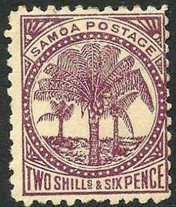 Samoa SG64b 6d Wmk Reversed M/M
