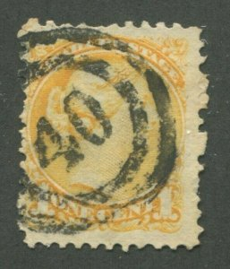 CANADA #35 USED SMALL QUEEN 2-RING NUMERAL CANCEL 40