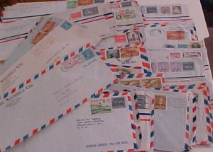 CUBA  70 COVERS  1950's  MOSTLY TO USA