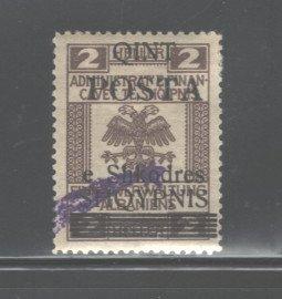 ALBANIA 1919  #98, OVERPRINT,  MH