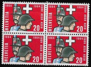 Switzerland, block of four SC 436, MH, OG