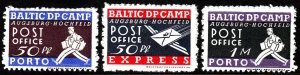 Stamp Label Estonia Lithuania 1948 Baltic Displaced People Camp Augsburg MNG