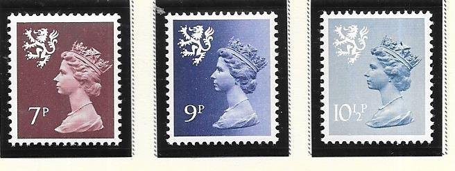Great Britain-Scotland # SMH8,12,14 (MNH) $1.10