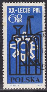 Poland 1247 USED 1964 Factory & Cogwheel 60GR