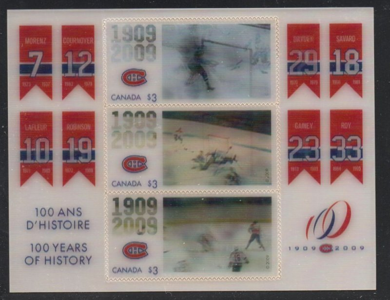 Canada Sc 2340 2009 Montreal Canadiens stamp sheet  mint NH