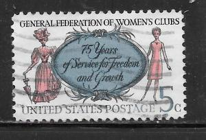 USA 1316a: 6c Women's Clubs, single, tagged, used, VF